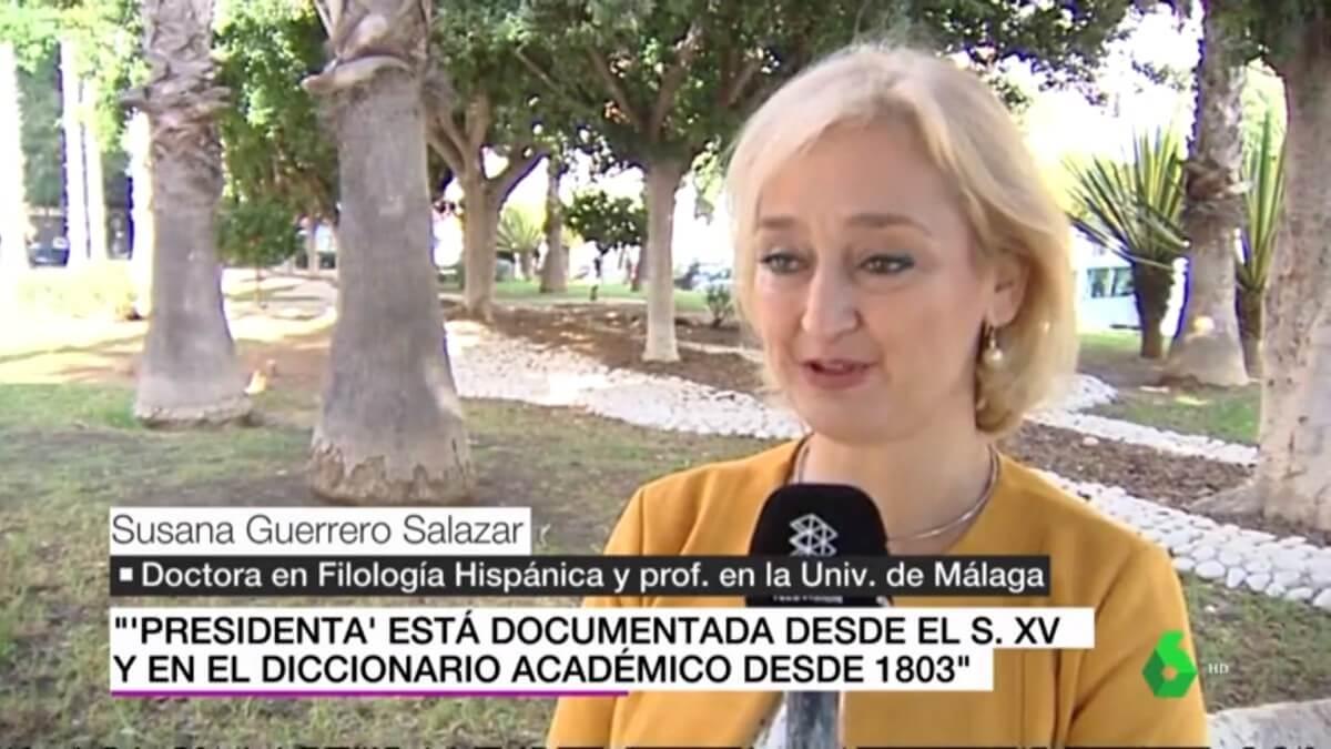 Susana Guerrero entrevistada por La Sexta Noticias